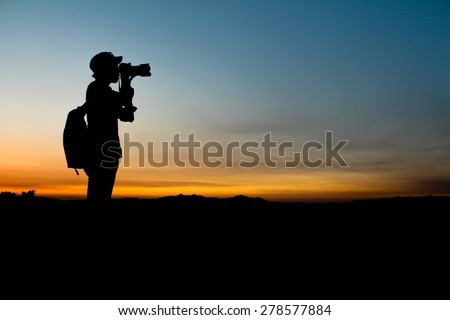 Silhouette portrait photographer