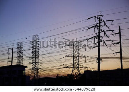 silhouette power line