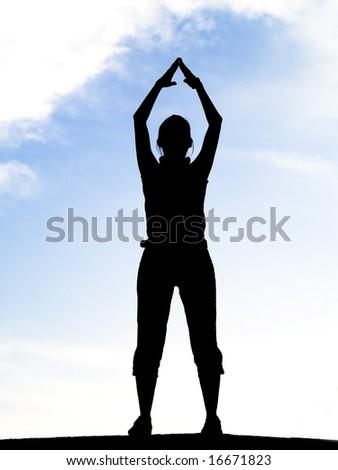 Silhouette siluetas - stock photo