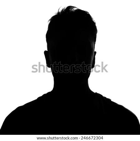 silhouette studio shot isolated on white - stock photo