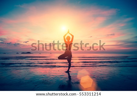 meditation silhouette stock images royaltyfree images