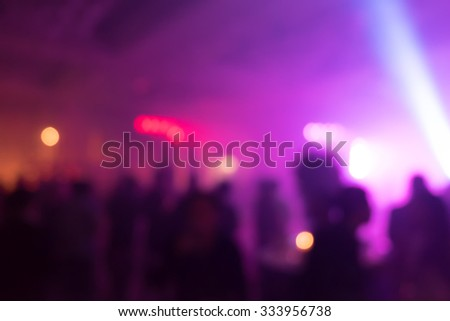silhouettes of concert - stock photo