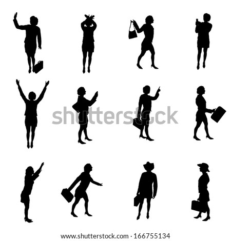 Silhouettes of woman