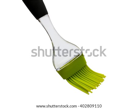 Silicon plastic brush for baking isolated on white background - stock photo
