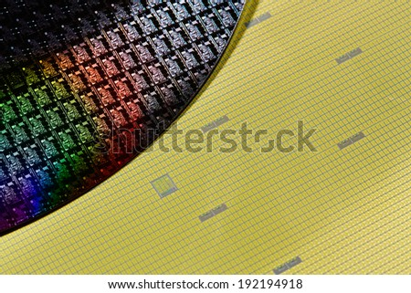 Silicon wafers  - stock photo