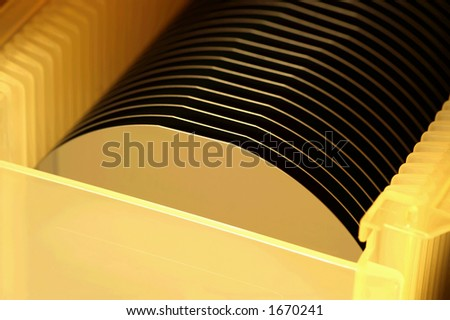 Silicon wafers prepared for chip production