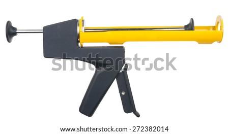 Silicone glue gun - stock photo