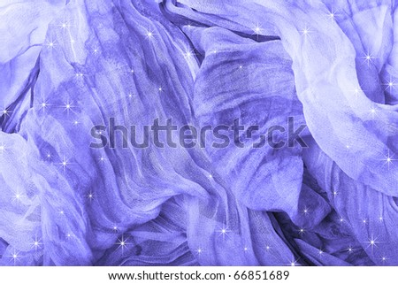 Silk background with stars.