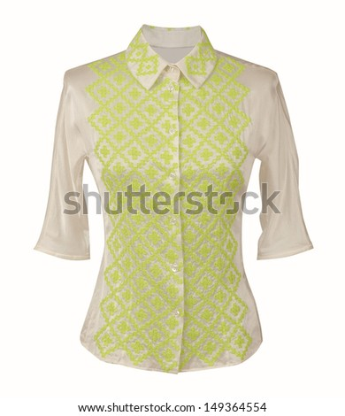 silk blouse - stock photo