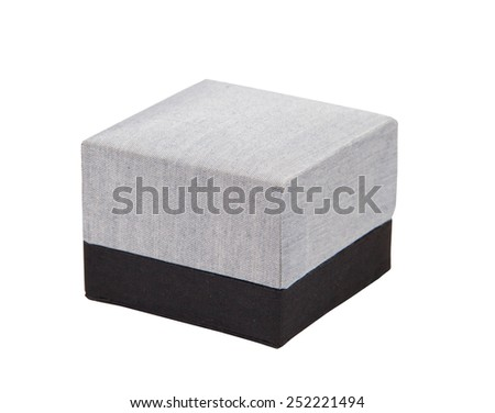 Silk box isolated on white background. - stock photo