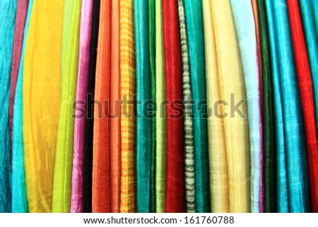 Silk cloth colorful