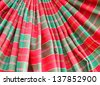 Silk clothes decoration - stock photo