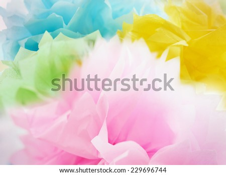 Silk rainbow scarf - stock photo