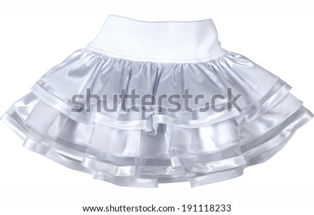 silk skirt isolated on white