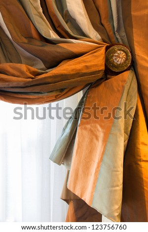 Green Curtains brown cream and green curtains : Window Drapes Stock Images, Royalty-Free Images & Vectors ...