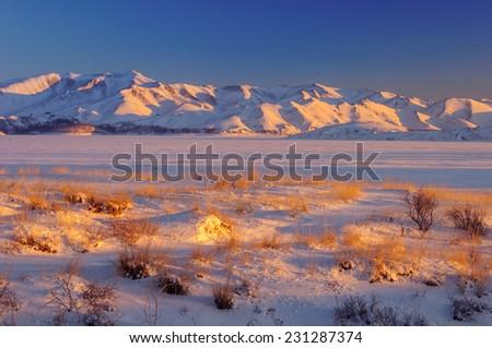 silkroad sunrise - stock photo