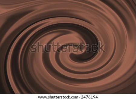 Silky Chocolate Swirl - stock photo