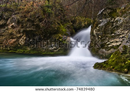 Silky water - stock photo