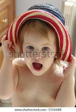 Silly Girl in Hat
