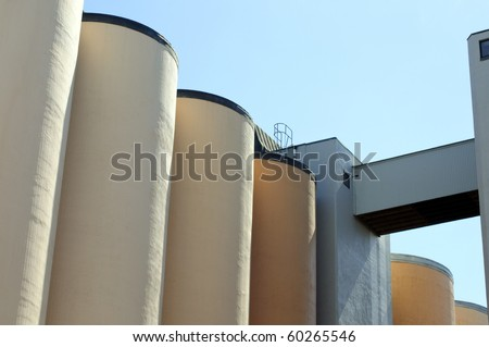 Silo against a blue sky