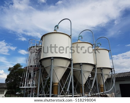 Silos for the storage of flour for food.