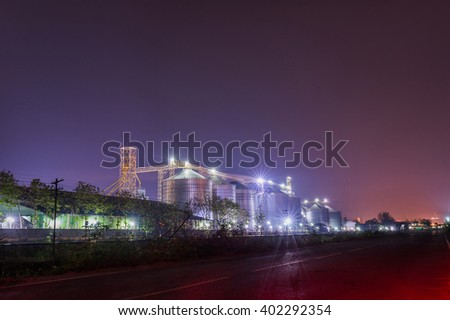 Silos in City - stock photo
