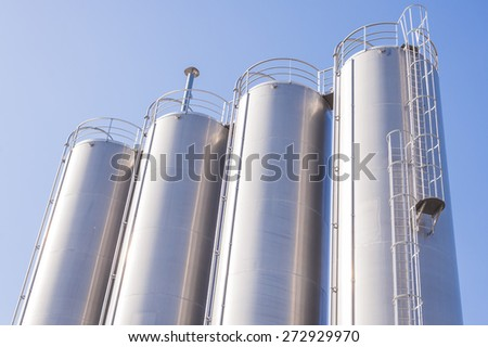 Silos of the chemical plant