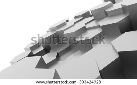 Silver abstract hexagonal business background rendered