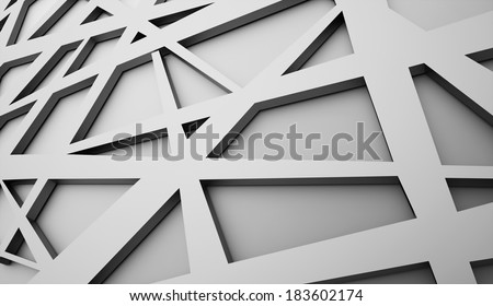 Silver abstract triangle background rendered - stock photo