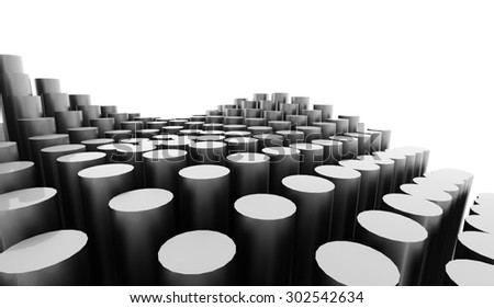 Silver abstract tube background rendered