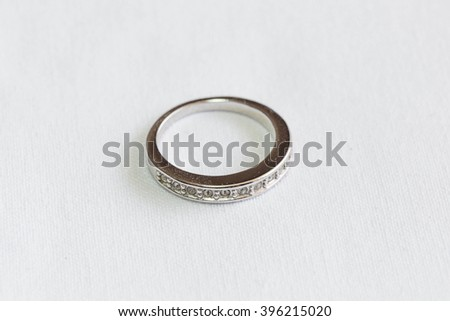 silver and diamond ring weding