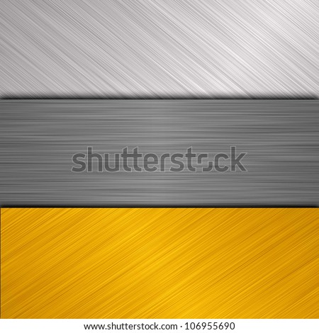 silver and gold metal banner