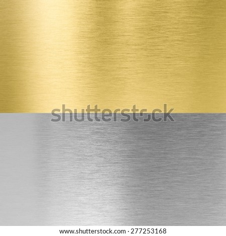 silver and gold stitched metal textures - stock photo