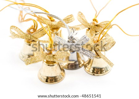 Silver and golden bell