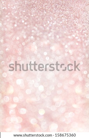 silver and red bokeh lights. pastel glitter lights - stock photo