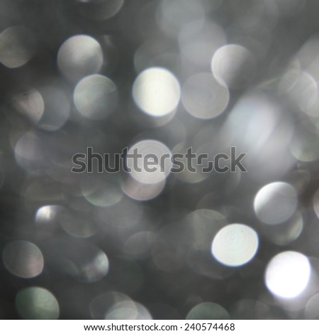 silver background - abstract bokeh light (seamless pattern) - stock photo