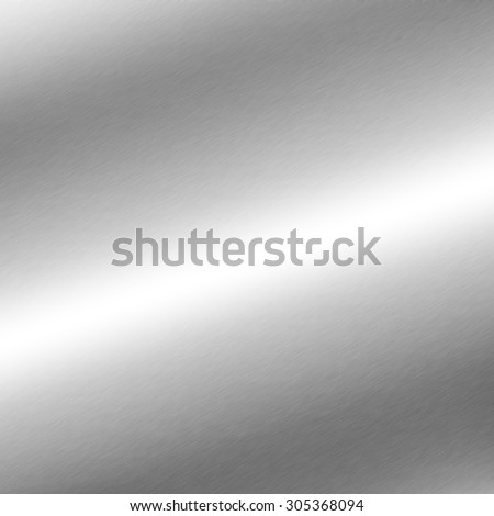 silver background metal texture with oblique line of light - stock photo