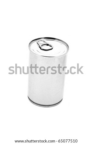 Silver beer can isolated on the white