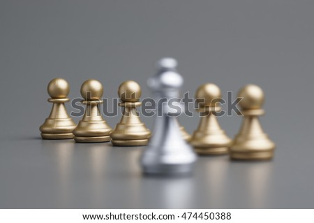 Silver bishop against golden pawn on the board