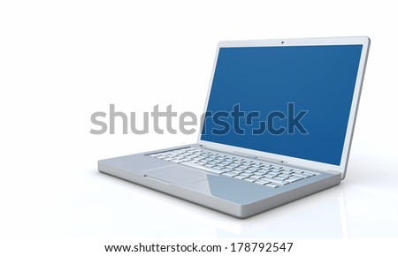 Silver blue laptop 2