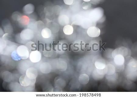 Silver bokeh - stock photo