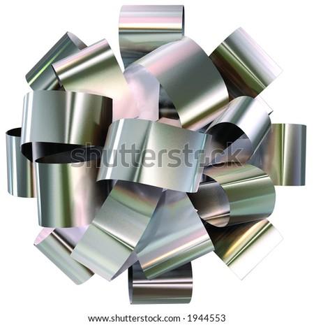 Silver Bow - stock photo
