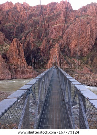 Silver Bridge in Grand Canyon National Park in Arizona - stock photo