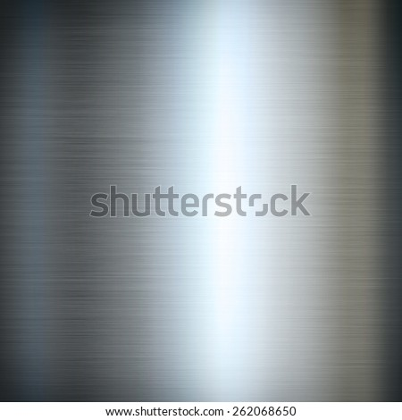 Silver brushed metal background texture wallpaper - stock photo