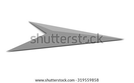 Silver business arrow concept background rendered
