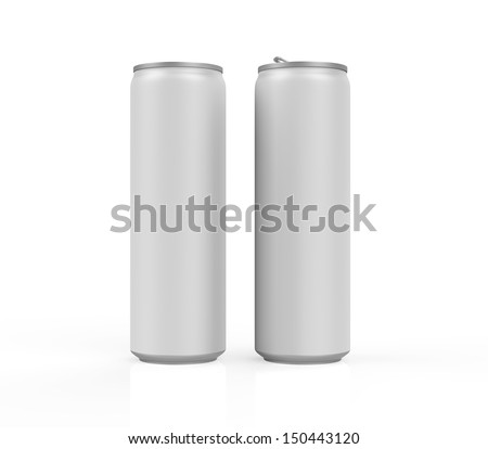 Silver Can Isolated - stock photo