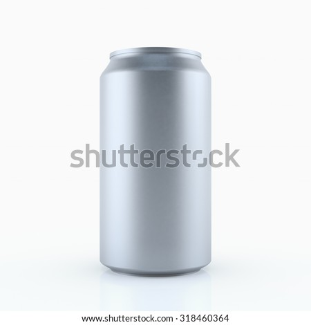Silver can vector visual 330 ml , ideal for beer, lager, alcohol, soft drink, soda, fizzy pop, lemonade, cola, energy drink, juice, water etc. Drawn with mesh tool. Fully adjustable & scalable - stock photo