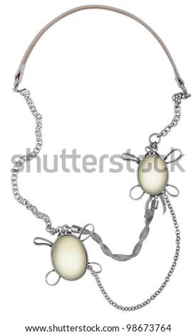 silver chain - stock photo