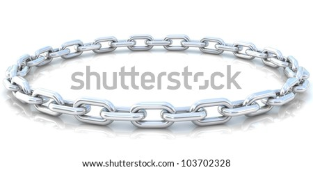 Silver chain background. 3D - render.