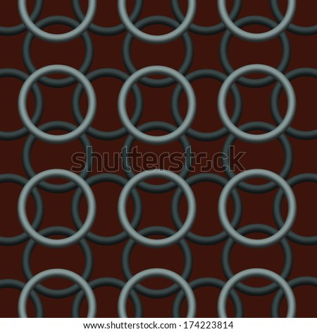 Silver Chain Pattern on a Brown Background